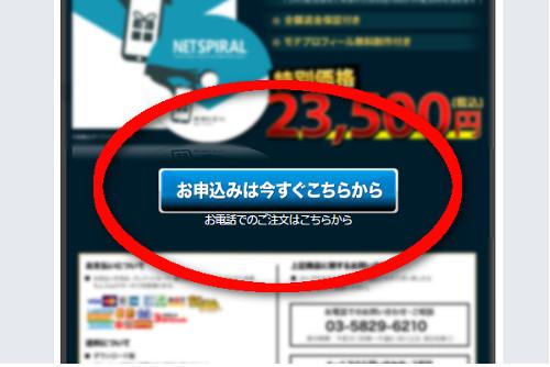 「NET SPIRAL公式ページ」購入ボタン