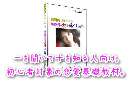 横山建さん著の『90日でブサイクがかわいい女を落とす方法』教材イメージ