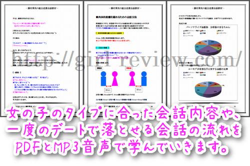 藤村勇気さんの情報商材『総合恋愛会話教材』の教材概要