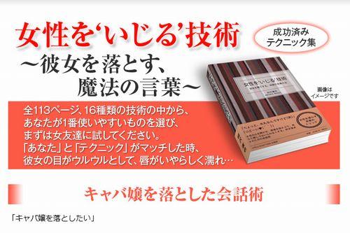 相沢蓮也さん著の恋愛系情報商材『女性をいじる技術』の公式サイト
