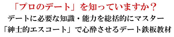 城咲仁さん著恋愛系情報商材『今からモテに行くぞデート編』のキャッチコピー